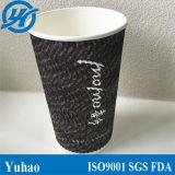Tasse à emporter d'enveloppe d'ondulation de café