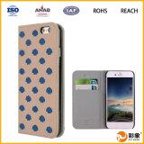 Marca de fábrica compatible y cubierta material del teléfono del tirón de la sublimación del cuero