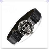 De Armband van het Leer van de Armband van het Roestvrij staal van de Juwelen van mensen (LB365)