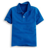 Kind-Baumwoll-Polyester-Polo-T-Shirt, Polo-Hemd, Polo-T-Shirt