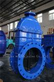 Válvula de puerta dúctil del hierro del lacre de goma de Nrs con ISO Wras del Ce aprobado