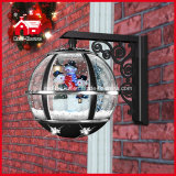 Schneemann Family Decoration Classic Black Holiday Wall Lamp mit Snow