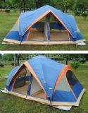Barraca de acampamento dos homens do poliéster 5-8 da camada dobro