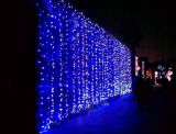 LED de luz de la cascada por un mercado de la decoración