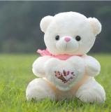 Het rode Speelgoed van de Pluche van de Valentijnskaart van het Stuk speelgoed van de Hond van het Hart