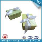 Коробка желтого подарка бумаги цвета упаковывая (GJ-Box131)