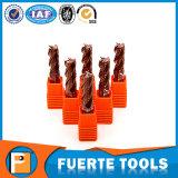 Tisin cubrió las herramientas planas del cortador del molino de extremo para para corte de metales