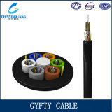 고품질 GYFTY 옥외 광섬유 케이블 2-72 코어 FRP 중앙 강화된 Applicated 덕트 또는 공중선