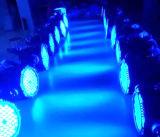 Luz quente RGBW 4 do disco da PARIDADE do diodo emissor de luz da venda 54*3W em 1