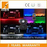 8PCS RGB 바위 빛 Underglows가 Bluetooth 통제 LED 트럭 일에 의하여 점화한다