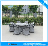 Сад Dining Table и Set F-Modern Leisure Home Rattan (CF741T+CF1274T+CF1244C)