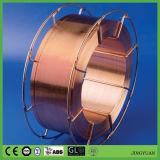 工場はAws A5.18 Er70s-6ミグ溶接に15kg/Spoolをワイヤーで縛らせる