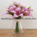 Colorido lirio artificial ramo de flores para la decoración del hogar (SW12003)