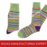 Qualität der Kamm-Baumwollfreizeit-Socke der Männer (UBM1033)