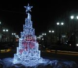 Décoration de rue de lumière de Noël de DEL