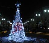 Decoração da rua da luz da rede do Natal do diodo emissor de luz