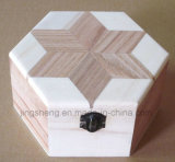 Caja de madera de la joyería de la vendimia Caja de madera de la caja de regalo de la boda