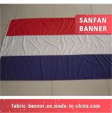 Bandiera su ordinazione del tessuto del poliestere, facente scorrere bandiera con stampa di colore completo