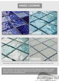 mattonelle di mosaico di ceramica della porcellana del reticolo di onda dell'azzurro di 48X48mm per la piscina