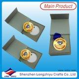 Nuova medaglia della medaglia personalizzata della stazione di finitura di sport medaglia con il contenitore di regalo