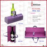 Neue Entwurfs-Form direkter PU-lederner Wein-Träger (6135R11)