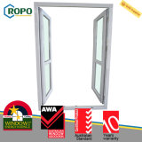 Le bon double de PVC de résistance aux intempéries part de la porte en verre extérieure