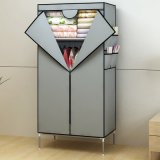簡単なDouble Zipper Door Non-Woven Fabric Wardrobe (寝室FurnitureのためのWS16-0085、)