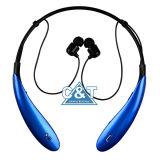 Oortelefoons van Sweatproof van de Sport van de Hoofdtelefoon van het Halsboord Earbuds van de Hoofdtelefoons van Bluetooth de Intrekbare Draadloze met Mic voor iPhone Androïde Cellphone