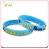 Wristband convesso stampato impresso personalizzato del silicone di disegno