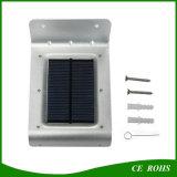 L'éclairage extérieur économiseur d'énergie imperméabilisent 16 la lumière actionnée solaire de garantie de lumière de mur de jardin de lumière de détecteur de mouvement de DEL 1W PIR