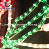 "Geanimeerde 230cm Wide LED ""vrolijke Christmas"" Sign met Candles Motif Rope Lights"