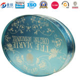 Tailles importantes Oval Shaped Cookie Tin Box Can pour Christmas Holiday-JY-WD-2015112106