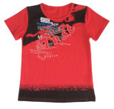 T-shirt rouge d'homme de garçon de mode chez l'usure Sgt-620 des enfants