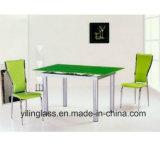 Glace de dessus de table basse estampée par configuration de couleur