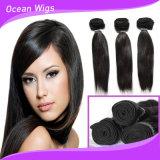 2015 pacotes livres do cabelo de Peruvain do Virgin do cabelo reto do emaranhado da alta qualidade