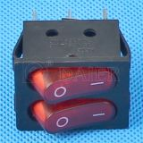 2개의 LEDs를 가진 PA66 Illuminated Double 폴란드 Rocker Switch