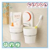 Absaugung-Cup-Zahnbürste-Halter-Organisator mit Zahnpasta-Zahnstange