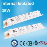 bloc d'alimentation interne de canalisation de l'installation DEL de 35W 0.85A avec du ce