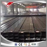 Q235 Constrctionの物質的で黒い正方形および長方形の空の鋼鉄管