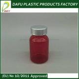 Plastikmedizin-Flasche des roten Haustier-110ml mit Temperament-offensichtlicher Schutzkappe