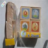Штемпель уплотнения малышей резины изготовленный на заказ печатание деревянный
