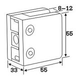 厚化の正方形のステンレス鋼の手すりクランプ