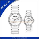La montre de quartz de sport unisexe la plus neuve de mode avec la bande d'acier inoxydable