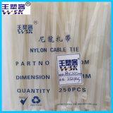 China-Nylonkabelbinder-Fabrik-Großverkauf Stoßzeit8*200mm Kabelbinder der UL-Bescheinigungs-PA66