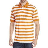 Chemise de polo occasionnelle en gros de mode de piste de chemises de polo de coton d'hommes