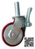 6/8 Inch Scaffolding Red PU auf Iron Caster Wheel