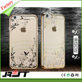 Caja del teléfono móvil del caso de la impresión de la flor del precio competitivo para iPhone6