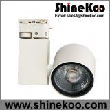 MAZORCA de aluminio LED Tracklight del redondo 20W
