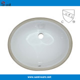 Le meilleur évier en céramique de vente de navire d'Undermount de salle de bains de Cupc (SN005)