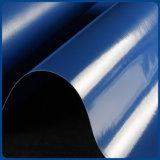Tela incatramata ricoperta PVC lucida impermeabile dell'azzurro di alta qualità per il coperchio di Trcuk